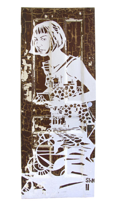 Swoon, 'Meena (Hexagon Girl)', 2005/ 2017