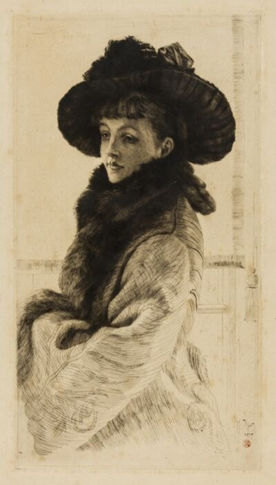 James Jacques-Joseph Tissot, 'Mavourneen (or Portrait of Kathleen Newton)', 1877