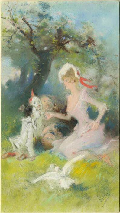 Jules Chéret, 'Feeding the Clowns', before 1890