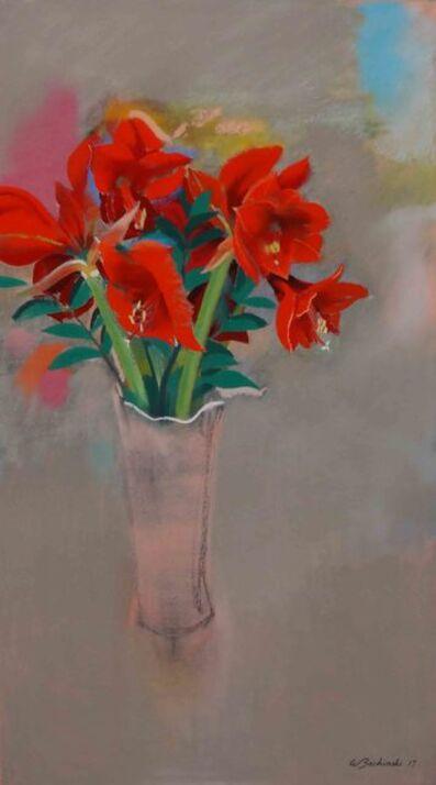 Walter Bachinski, 'Amaryliss in Pink Vase', 2017
