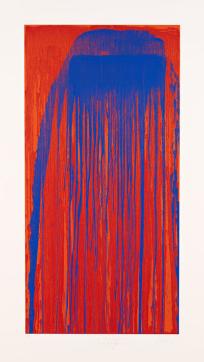 Pat Steir, 'Peacock Waterfall', 2001
