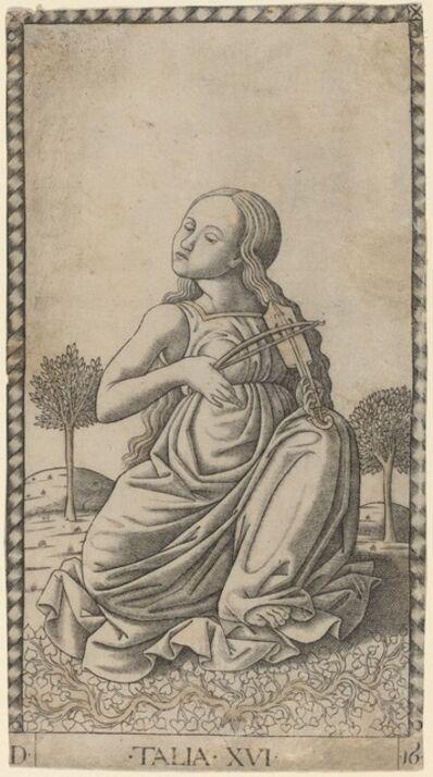 Master of the E-Series Tarocchi, 'Talia (Thalia)', ca. 1465