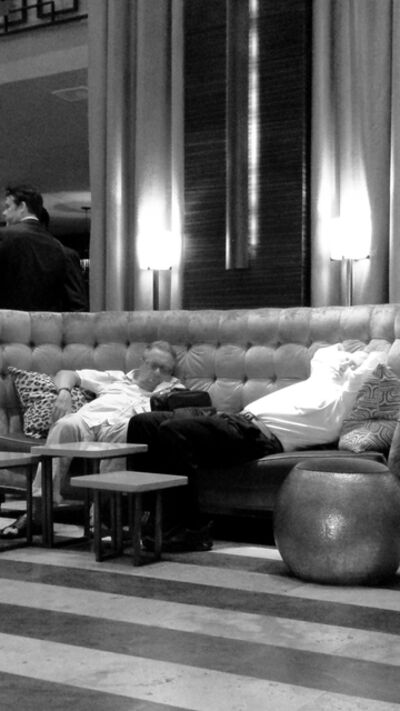 Susan Spangenberg, 'Lounging in the Lobby', 2015