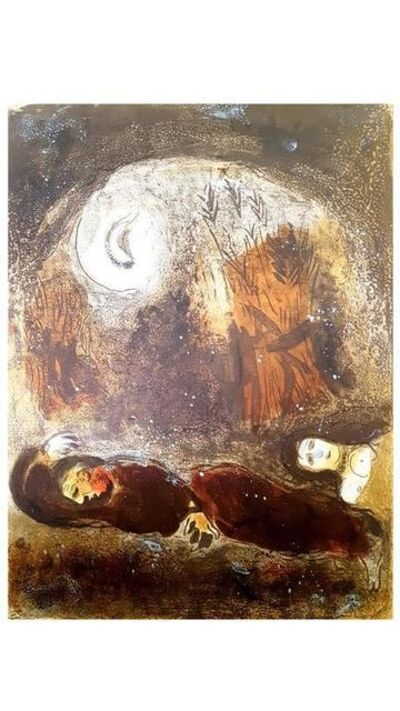 "Marc Chagall, 'Original Lithograph ""Ruth at the feet of Boaz"" by Marc Chagall', 1960"