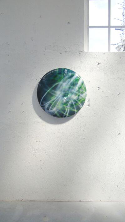 Stefanie Brehm, 'disk - aventurine peridot', 2018