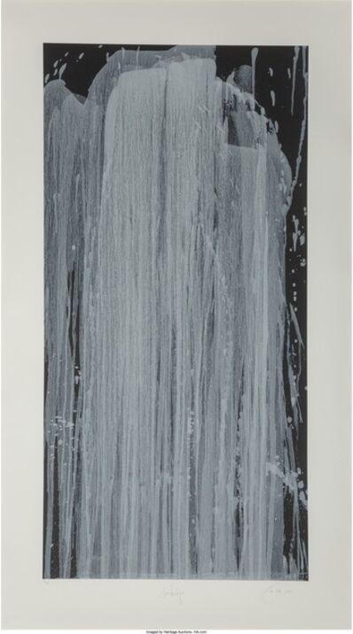 Pat Steir, 'Silver Waterfall', 2001