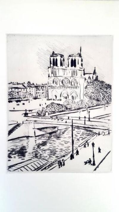 "Albert Marquet, 'Original Etching ""Notre Dame"" by Albert Marquet', 1927"