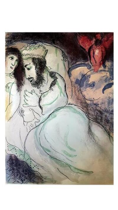 "Marc Chagall, 'Original Lithograph ""Sarah and Abimelech"" by Marc Chagall', 1960"