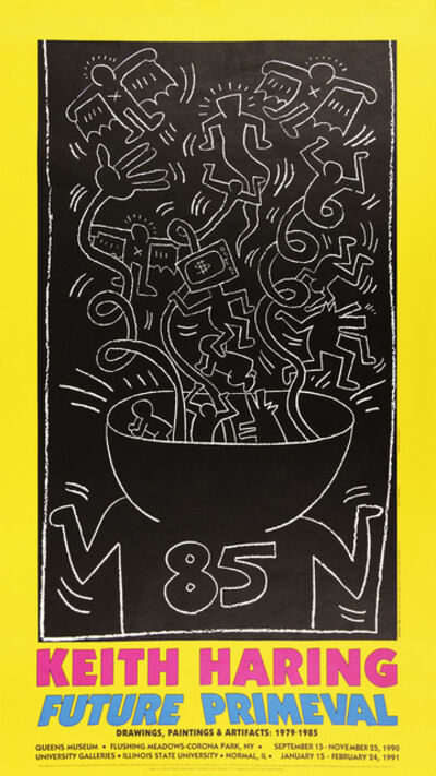 Keith Haring, 'Future Primeval Exhibition Poster', 1990