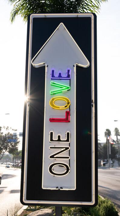 "Scott Froschauer, '""One Love Pulsating"" - Neon Contemporary Street Sign Sculpture', 2020"