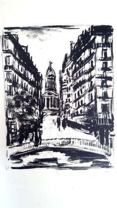 "Maurice de Vlaminck, 'Original Etching ""Paris Rue Souflot"" by Maurice de Vlaminck', 1927"