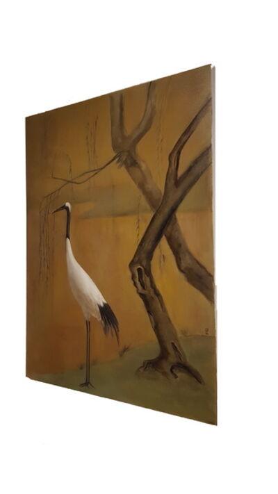 xie yi, 'White Crane '
