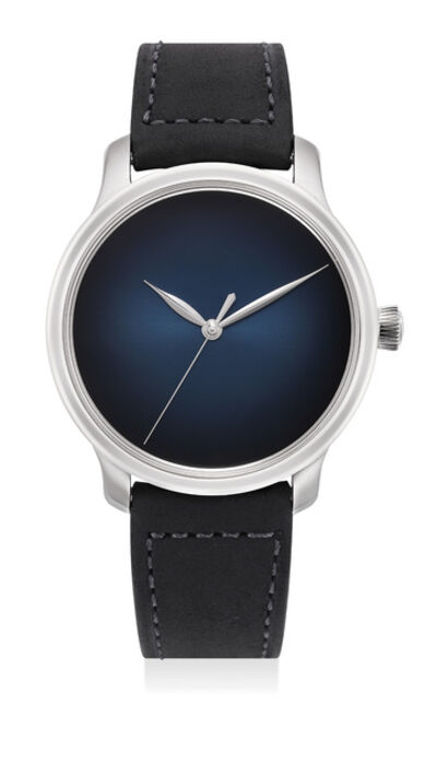 Moser & Cie, 'A fine and very rare limited edition white gold wristwatch with midnight-blue fumé dial, power reserve, sweep center seconds, International Guarantee and box, limited edition of 10 pieces made for the Italian market', Circa 2015