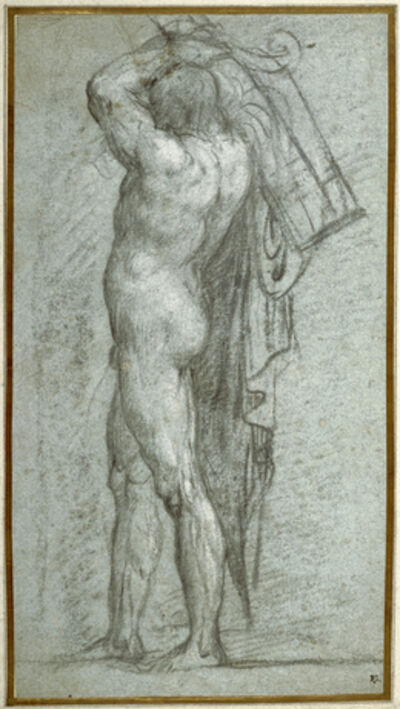 Titian, 'Nude Man Carrying a Rudder on His Shoulder', 1555-1556