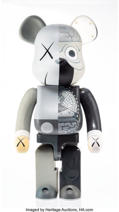 KAWS X BE@RBRICK, 'Dissected Companion 1000% (Grey)', 2010