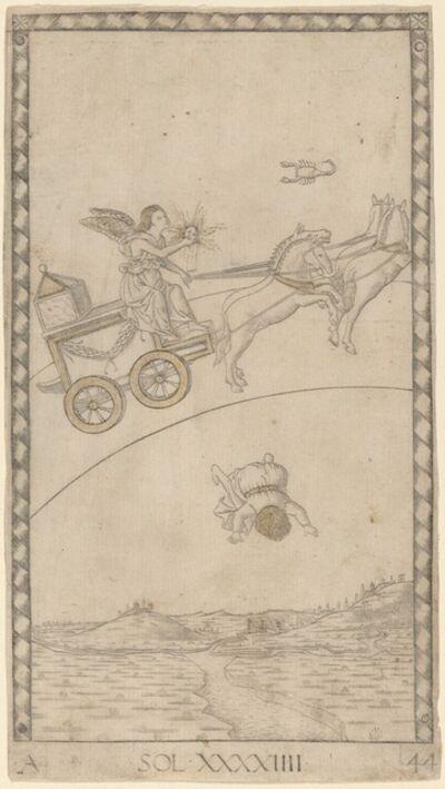 Master of the E-Series Tarocchi, 'Sol (Sun)', ca. 1465