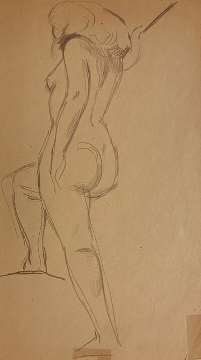 Jared French, 'Untitled (Female Nude) [Nude Woman Stepping up]', 1930