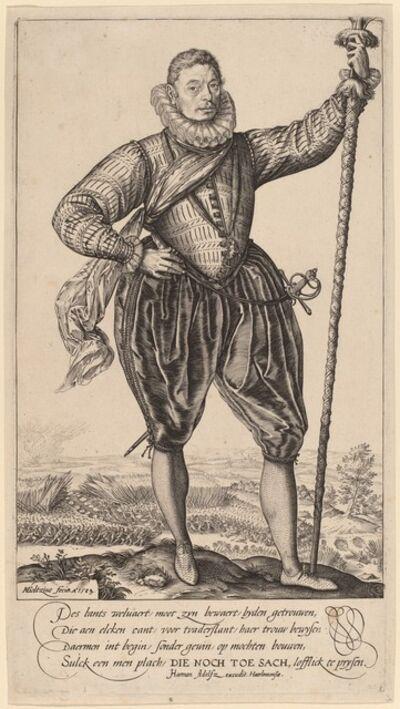 Hendrik Goltzius, 'Pike Bearer Standing', 1583