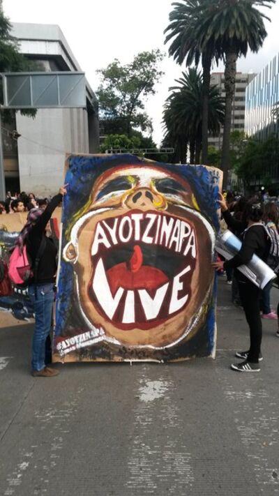 Gustavo Speridião, 'Ayotzinapa vive! , Mexico City,2014.', 2015