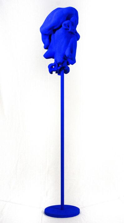 Shayne Dark, 'Windfall Blue - bright, playful, matte, painted, wood, standing sculpture', 2019