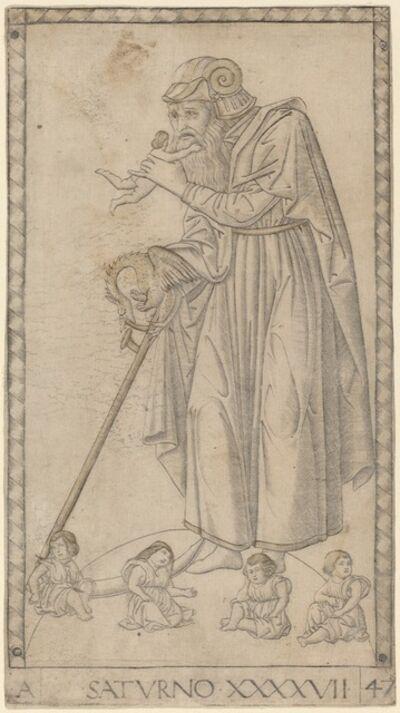 Master of the E-Series Tarocchi, 'Saturno (Saturn)', ca. 1465