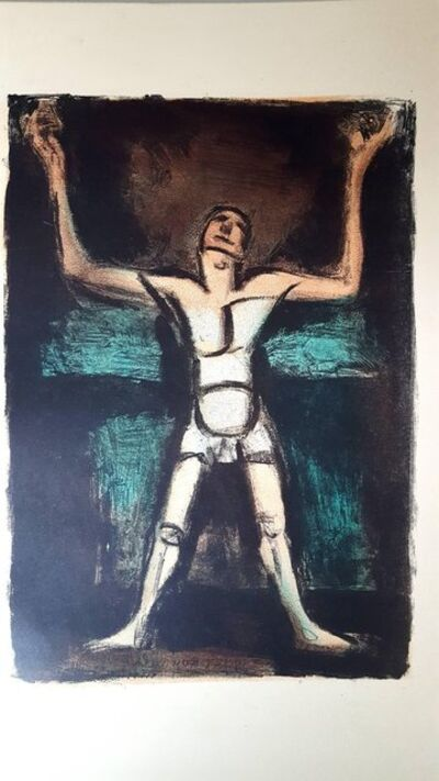 "Georges Rouault, 'Original Lithograph ""Man"" by Georges Rouault', 1927"