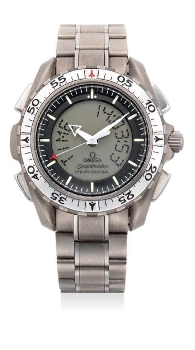 OMEGA, 'A quartz titanium calendar chronograph wristwatch', Circa 1998