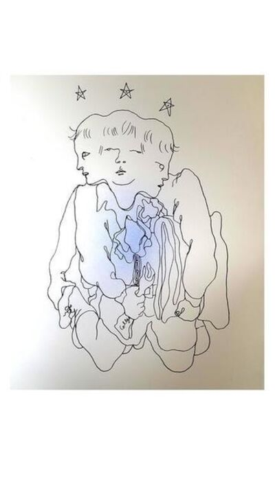 "Jean Cocteau, 'Original Lithograph ""Three in One"" by Jean Cocteau', 1930"