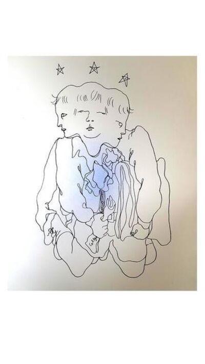 "Jean Cocteau, 'Original Lithograph ""Three in One"" by Jean Cocteau', 1930"