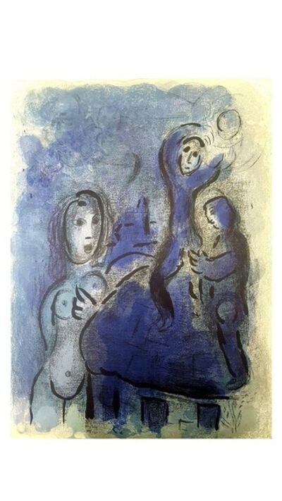 "Marc Chagall, 'Original Lithograph ""Rahab and the Spies of Jericho "" by Marc Chagall', 1960"