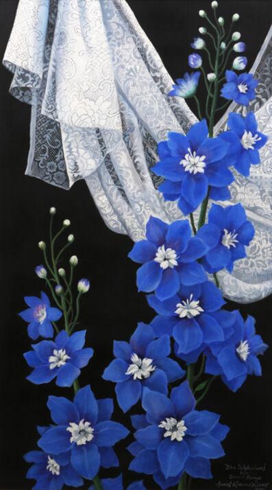 Araceli Limcaco-Dans, 'BLUE DELPHINIUMS', 1994