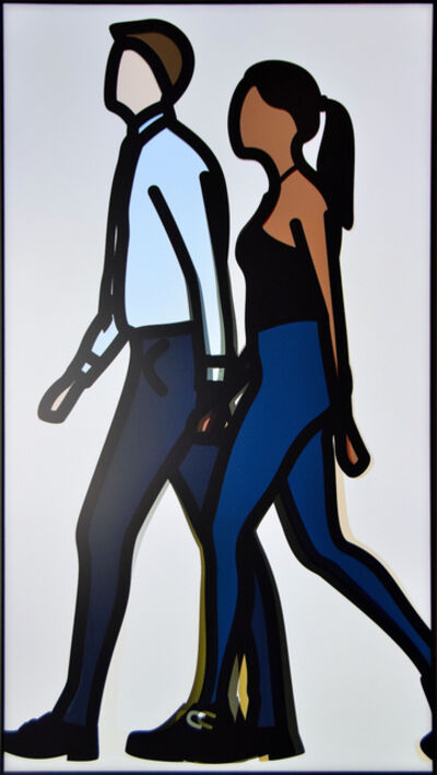 Julian Opie, 'Imogen and Bobby Walking', 2016