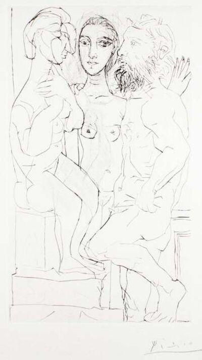 Pablo Picasso, 'Sculpteur, Modèle et Sculpture Assise', 1933