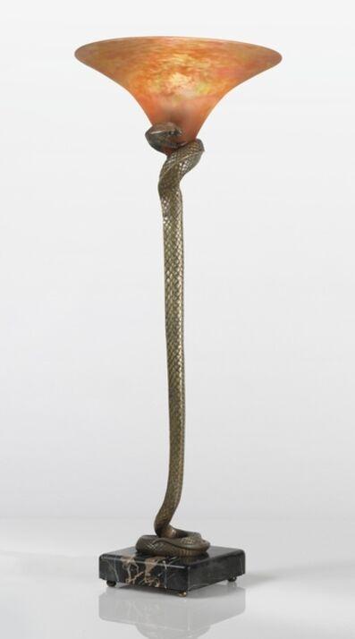 """Edgar Brandt, '""""La Tentation"""" Torchere', circa 1925"""