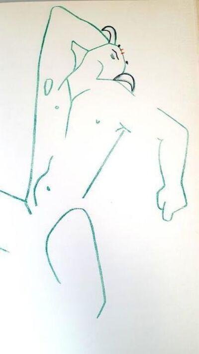 "Jean Cocteau, 'Original Lithograph ""Marine Mountains"" by Jean Cocteau', 1961"