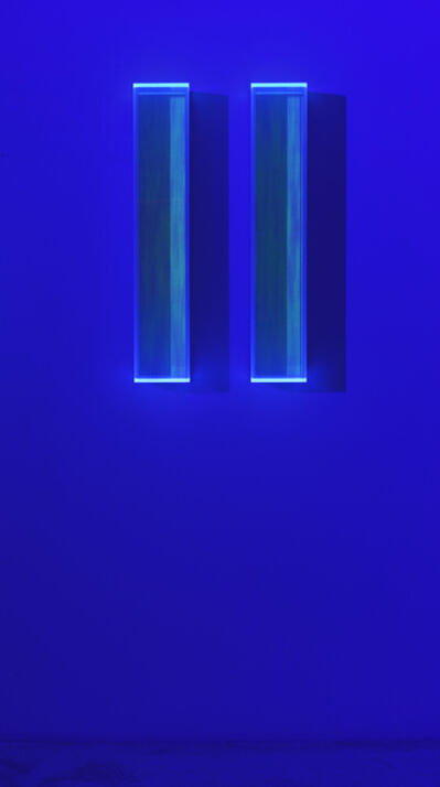 Regine Schumann, 'Colormirror rainbow glow after blu green milan', 2019