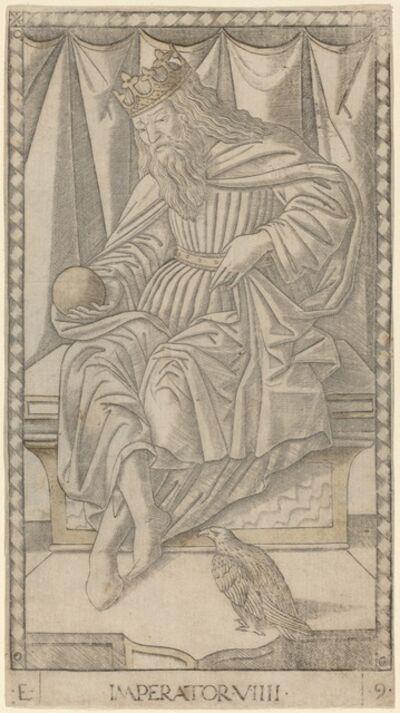 Master of the E-Series Tarocchi, 'Imperator (Emperor)', ca. 1465