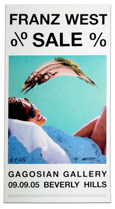 Franz West, '% Sale % poster, SIGNED', 2005
