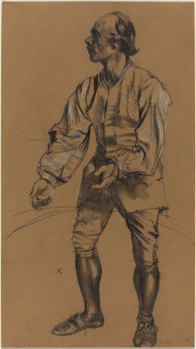 Adolph Menzel, 'Richard Menzel Posing in Eighteenth-Century Costume', 1854