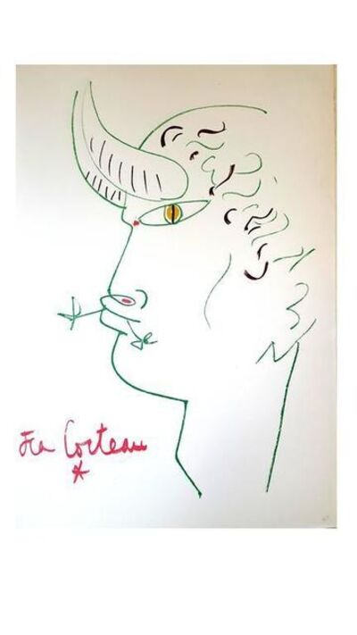 "Jean Cocteau, 'Original Lithograph ""Marines Mountains V"" by Jean Cocteau', 1961"