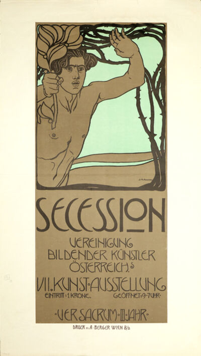 Josef Maria Auchentaller, 'Poster for the Seventh Exhibition of the Vienna Secession', 1900