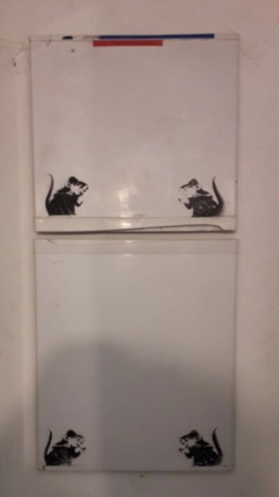 Banksy, 'Four bowler Hat Rats / Lock Pick Rats of fridge doors.', 2003-2004