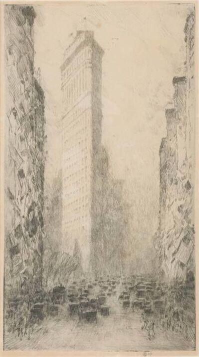 Childe Hassam, 'WASHINGTON'S BIRTHDAY, FIFTH AVENUE AND 23RD STREET (CORTISSOZ/CLAYTON 210)', 1916