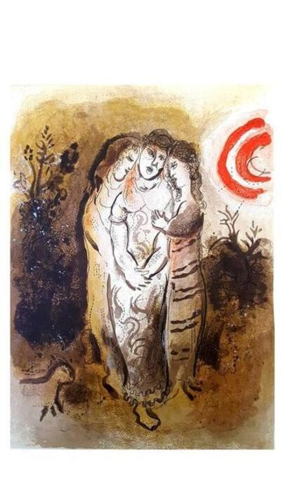"Marc Chagall, 'Original Lithograph ""Naomi and her daughters-in-law"" by Marc Chagall', 1960"