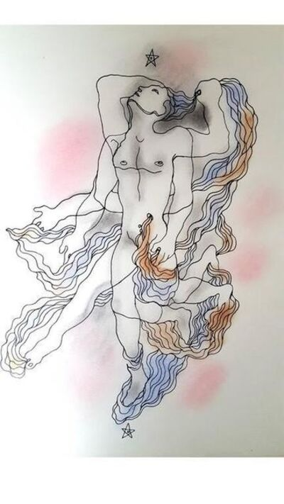 "Jean Cocteau, 'Original Lithograph ""White Book VI"" by Jean Cocteau', 1930"