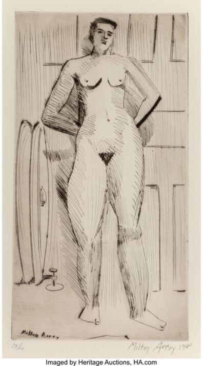 Milton Avery, 'Standing Nude', 1941