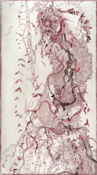 Solange Knopf, 'Women and Birds (red)', 2012
