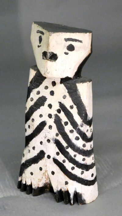 CHARLIE WILLETO, 'Owl, Charlie Willetto Navajo Folk art, wood black white vintage', 1962-1964