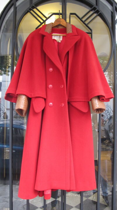 Hermès, 'Red Ostrich Coat', 1970