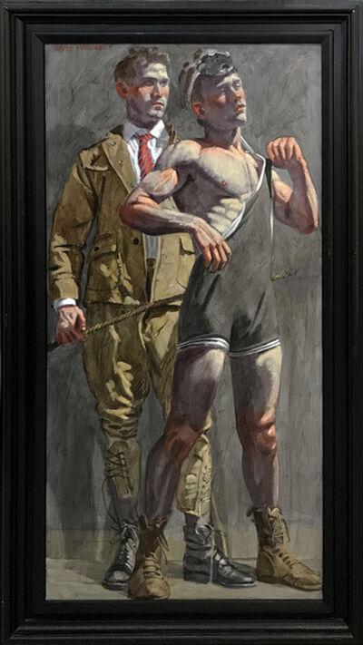 Mark Beard, '[Bruce Sargeant (1898-1938)] Wrestler and Man Looking On'